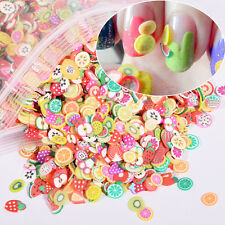 Vogue Women 1000Pcs/Pack Resin Fruit Feather Nail Art Fimo DIY Tips Decor Gift