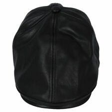 Boys and Girls Leather Beret Cap Vintage Peaked Hat Newsboy Sunscreen Top H F7w0