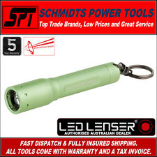 LED LENSER P3 AFS TORCH GREEN KEY CHAIN FLASH LIGHT & POCKET CLIP P3AFS ZL1057