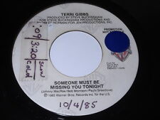 Terri Gibbs: Someone Must Be Missing You Tonight / Same 45
