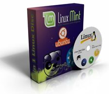 Linux Ubuntu,Kubuntu,Mint,Gamers,Puppy on same live & multi Boot Disc DVD 4 in 1