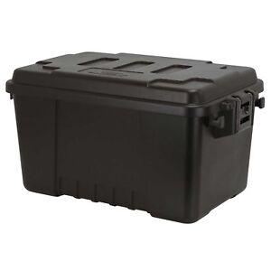 Plano Storage Trunk Chest Box Luggage Black Military Footlocker, Small