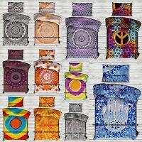 Mandala Indian Duvet Doona Cover Throw Cotton Reversible Quilt Blanket Cover Set
