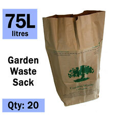Paper Compostable Garden Waste Sacks - Ecosack 20x 75 L - Paper Liners