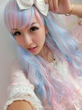 Femmes Ondulé Bouclé Harajuku Lolita perruque Longue Wave Hair 65cm Cosplay Wigs