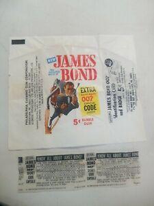 Vintage 1966 James Bond 007 Philadelphia Gum 5c wax card wrapper/Code Capsule