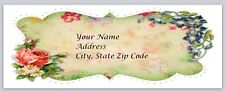 Personalized address labels Flowers Buy 3 get 1 free (fl1 24)