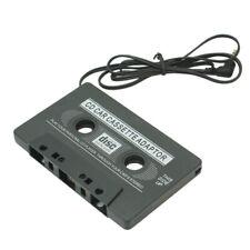 Car Audio Tape Cassette Adapter CD MD Radio Mp3 Mp4 Nano 3.5mm Jack Aux Black