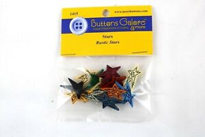 Buttons Galore Rustic Stars 1415 Crafts Sewing Scrapbook