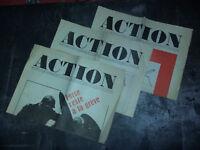 Lot 3 journaux / affiche révolutionnaire MAI 68 ACTION N°4 5 8 - Révolution 1968