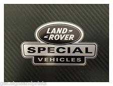 X2 52x30mm SILVER LAND ROVER DEFENDER DISCOVERY SPECIAL VEHICLES DECAL STICKER