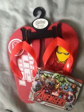 Unisex Marvel Avengers Flip Flops Red Comfy New Uk 7.5/8.5 Infant