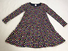 Gymboree Candy Shoppe 9 Navy Blue Circle Tiered Twirl Dress Girls Xmas