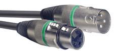 1 Câble XLR 3 Broche Mâle vers XLR 3 Broche Femelle Repérage VERT Long 10 Métres