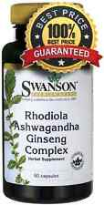 Rhodiola Ashwagandha Ginseng Complex 60 Capsules