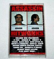 Vintage 1996 ASSASSIN HITWORKS VOL 1 Cassette Tape Rap Hip Hop Tupac OG OOP RARE