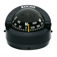 Ritchie Marine S-53 Explorer Compass Surface/Dashboard Mount (Black) for Boat RV