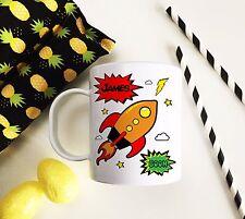 Personalised Plastic Unbreakable Kids Cup, Toddler Cup Comic Strip Boys Rocket
