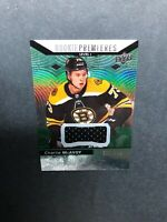 2017-18 Upper Deck Trilogy Level 1 Rookie Premiers #80 Charlie McAvoy Patch /399