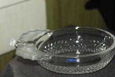 "Vintage Studio Nova Glass Candy Dish Bowl Japan  Grape Frosted Handle?  7""Long"