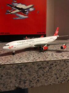 GJ 1:400 scale diecast model Virgin Atlantic A340-6 Commercial Airliner G-VATL