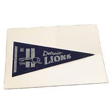 Detroit Lions Mini Penat Sports Souvenir Blue And White Felt Matted Case