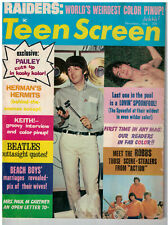 Dec 1966 issue of Teen Screen Magazine The Beatles, Raiders Mini Poster