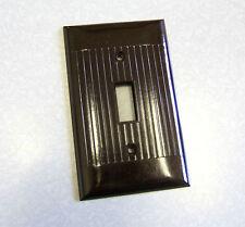 Vintage NOS Sierra Dk Brown Bakelite Single Switch Plate Cover