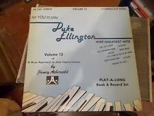 DUKE ELLINGTON NINE GREATEST HITS JAMEY AEBERSOLD VOLUME 12  INTERMEDIATE LP