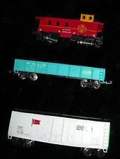 Model Train N Scale Box, Coal Car & Caboose 3 Piece Lehigh Valley SantaFe