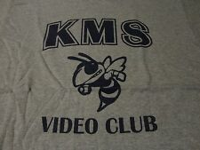 VIDEO CLUB Hornet Mascot KIRTLAND Middle School T Shirt sz Medium FREE Shipping