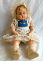 "Vintage 1940s 16"" Compo Ideal Miracle on 34 th St. Doll Baby Beautiful"