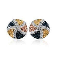 "SEE PICS**   ""CANDY""  Diamond Stud Earrings  34 diamonds .33tcw  MSRP $644"