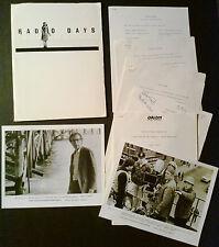Press kit~ RADIO DAYS 1987 ~Mike Starr ~Mia Farrow ~Carlo Di Palma ~Woody Allen