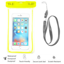 Green Waterproof Case Cell Phone Dry Bag+Lanyard f/ iPhone 7 & all Smart Phones
