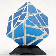 Ninja 3x3x3 Magic Cube Skewb Twist Puzzle Intelligence Toys White Brushed Blue
