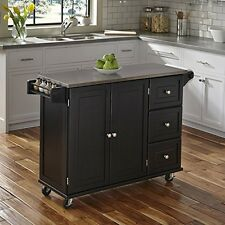 Home Styles 4513-95 Liberty Kitchen Cart W/ Ss Top Black NEW