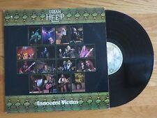 MICK BOX of URIAH HEEP signed INNOCENT VICTIM 1977 Album / Record COA