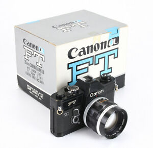 CANON FT QL BLACK, 50/1.4 CANON FL II (HAZE), BOXED, ISSUES, ENGRAVED/213446