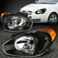FOR 07-11 ACCENT BLACK HOUSING AMBER CORNER HEADLIGHT REPLACEMENT HEAD LAMPS