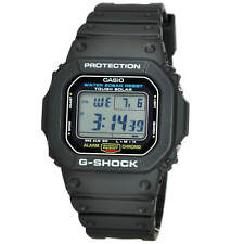 NEW* CASIO MENS G SHOCK SQUARE BLACK WATCH SOLAR POWER G5600E-1 RRP £129