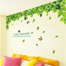 Creative green leaf top wall decal vinyl sticker rooms glass window living room#