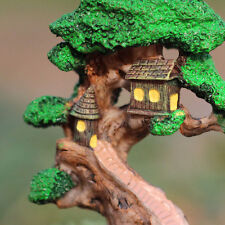 Garden House Tree Plant Pots Fairy Ornament Miniature Figurine Dollhouse Decor