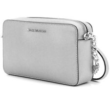 Michael Kors Shoulder Bag Jet Set Travel Md Ew Crossbody Silver New