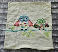 Dunelm 100% Cotton Owl Embroidered Cushion Cover