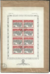 Poland, General Government , Mini Sheet on the registered cover to Dortmunt