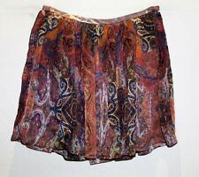 MNG Collection Multicolour Print Chiffon Mini Skirt Size 12 BNWT #TP05