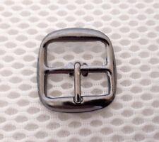 10 x20mm gun metal finish metal buckle bag shoe corset leather craft belt strap)