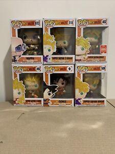 Funko Pop! Animation: Dragon Ball Z, Bulk x6 Figures Goku, Gohan, Nappa, Broly