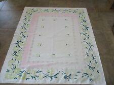 "Vintage ""Simtex"" Floral Tablecloth Size 61"" X 52.5"""